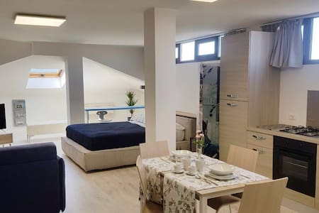 Modern & spacious loft apartment for 4 in Abano