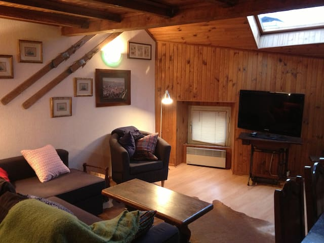 warm apartment for skiing - Osséja - Apartamento