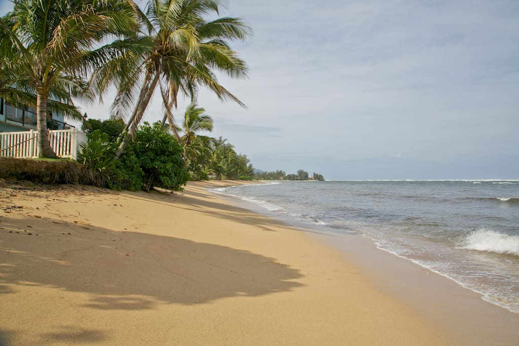 step outside to your quite beach away from tourists and crowd.