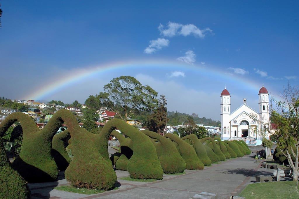 Zarcero famous park and church