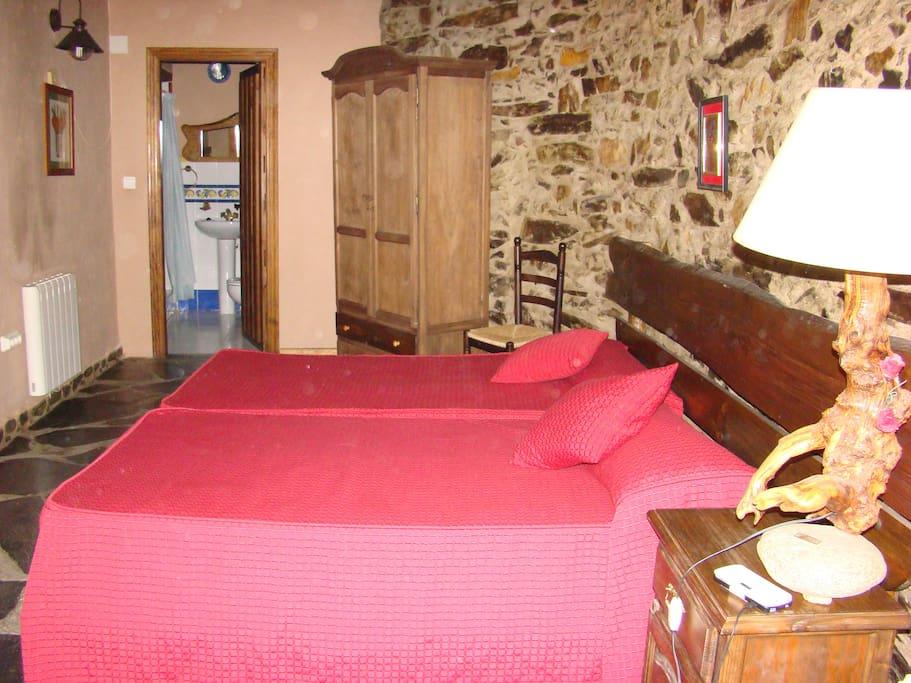 Habitación 2 camas apartamento 1ª planta