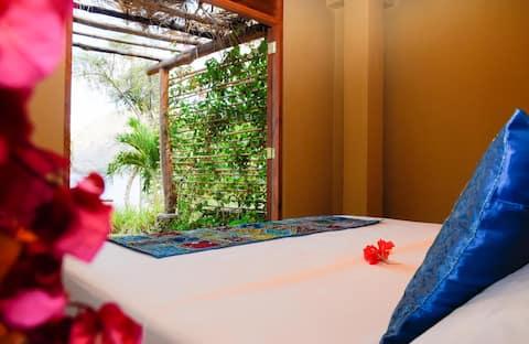 Cozy King Room with Patio in Eco-Friendly Villa