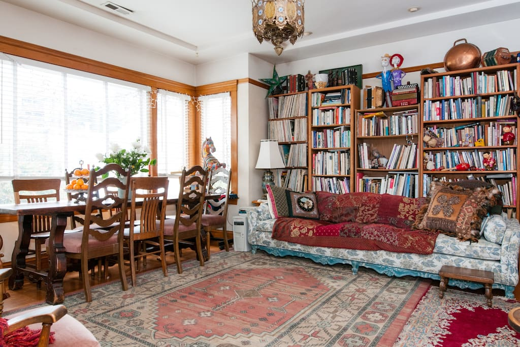 lovely sunny living room, and dining table where you are free to spend time