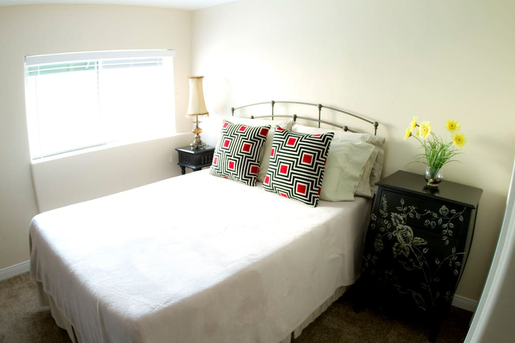 Luxurious Bed and Bedding.  Super Clean Units!