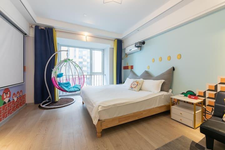聚隆无序电玩童趣 舒适大床高级公寓|洪家楼 宽厚里 芙蓉街 交通便利 网红景点可打卡