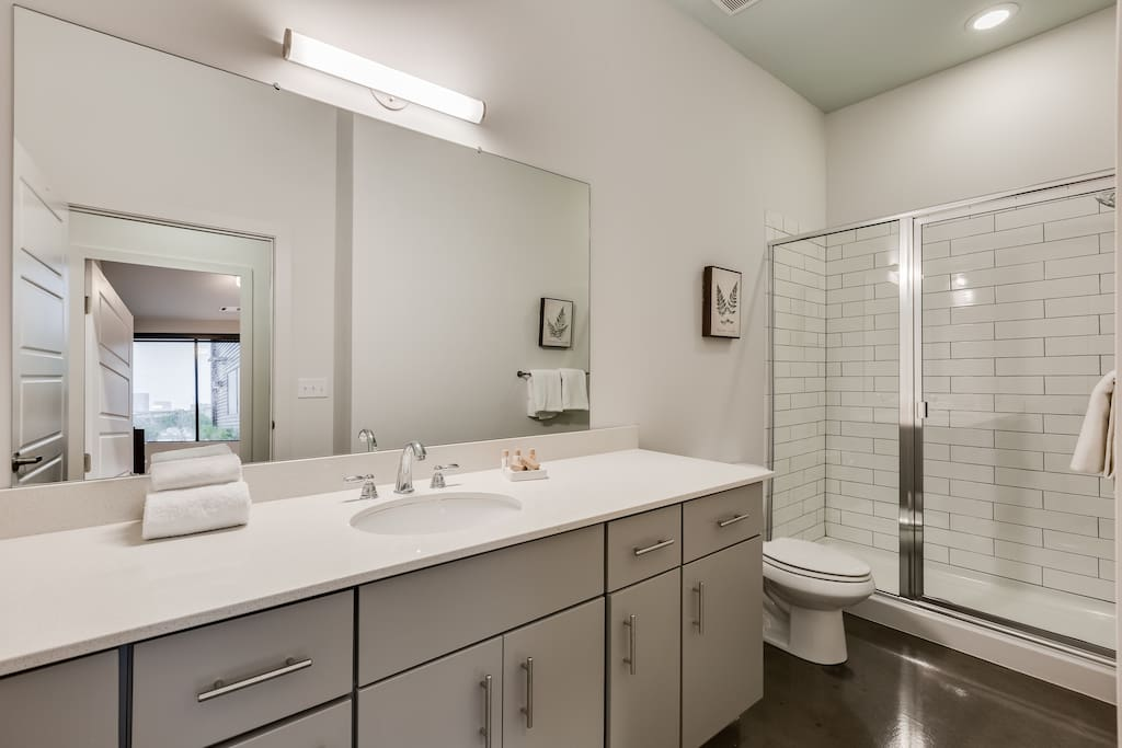 Bathroom at The James by Stay Alfred