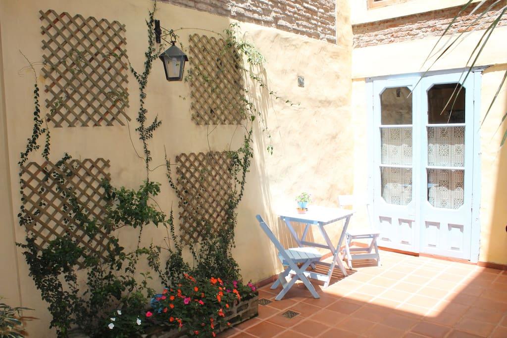 Second patio