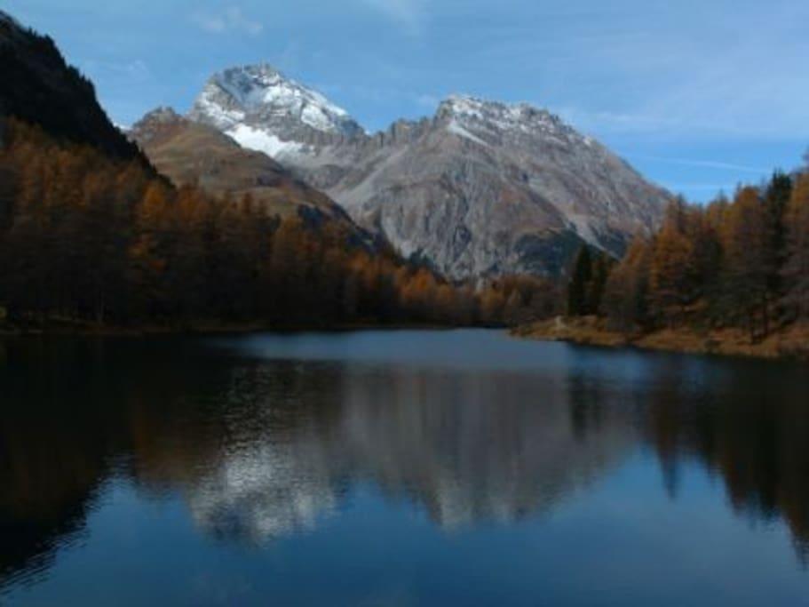 Mountain lake nearby