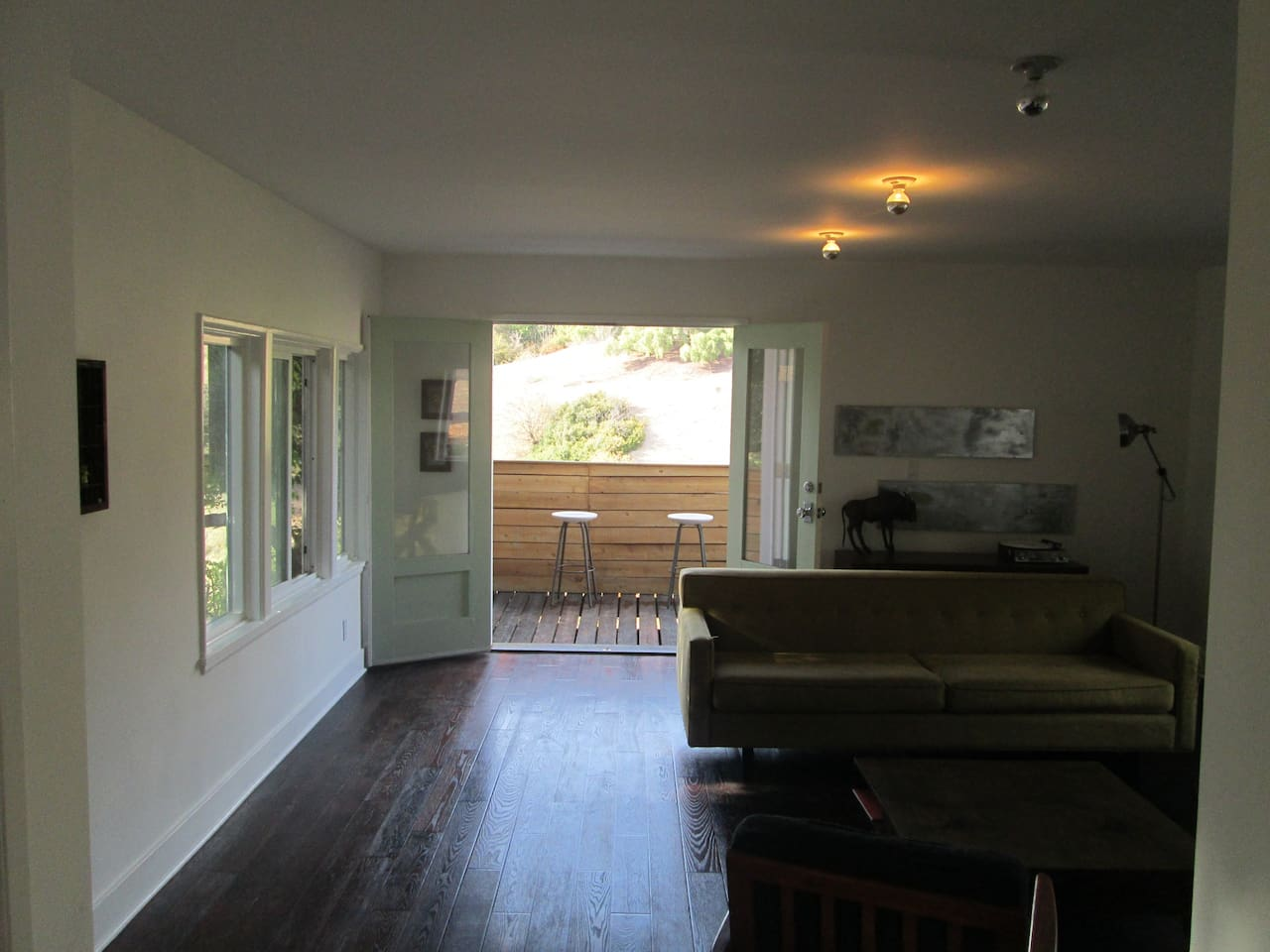 View from hall, living room