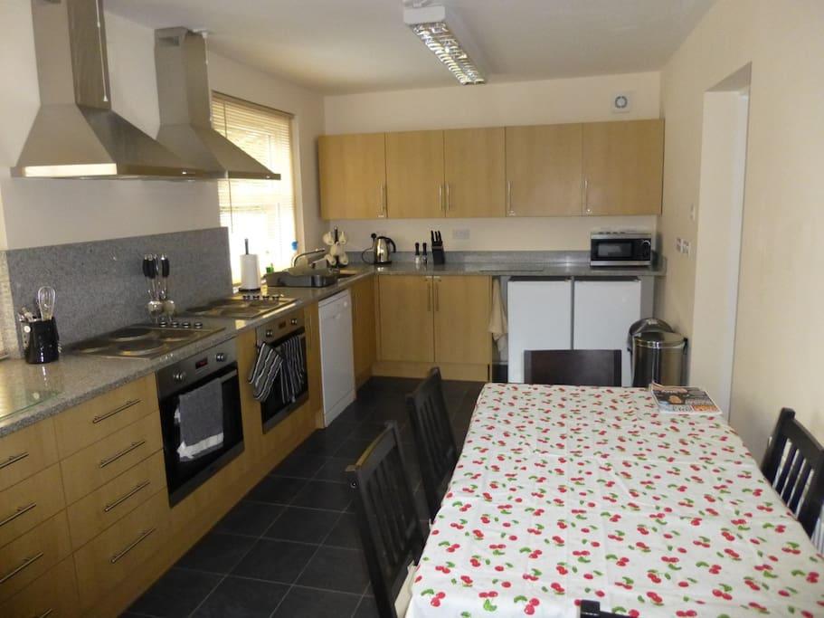 Large communal kitchen