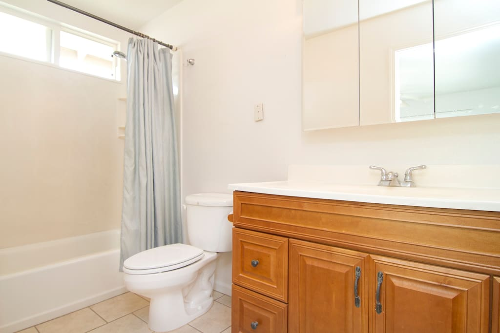 This room has a private clean large full Bathroom w/tub & shower.