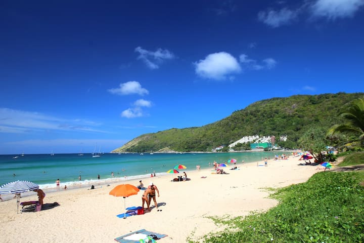 Walk to famous Nai Harn beach
