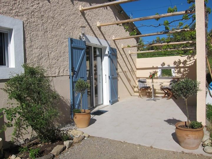 Private STUDIO w. terraces & secure parking, wifi
