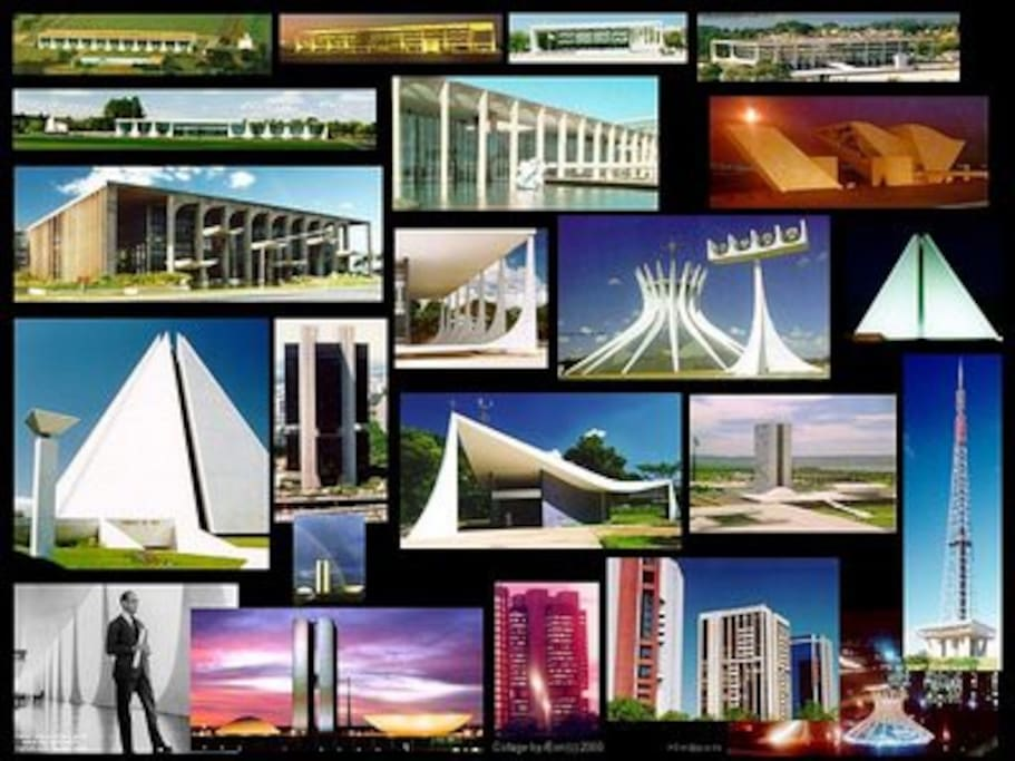Touristic monuments of Brasília