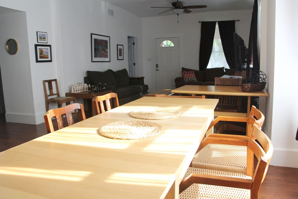 Dining table, view from kitchen