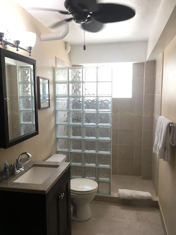 Full bath with spacious shower