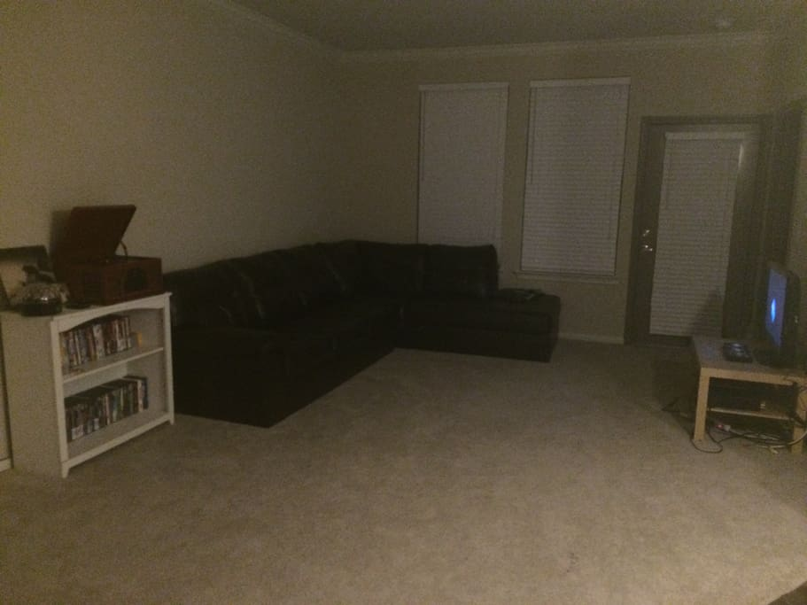Living room is dark (sorry no light in living room :( )