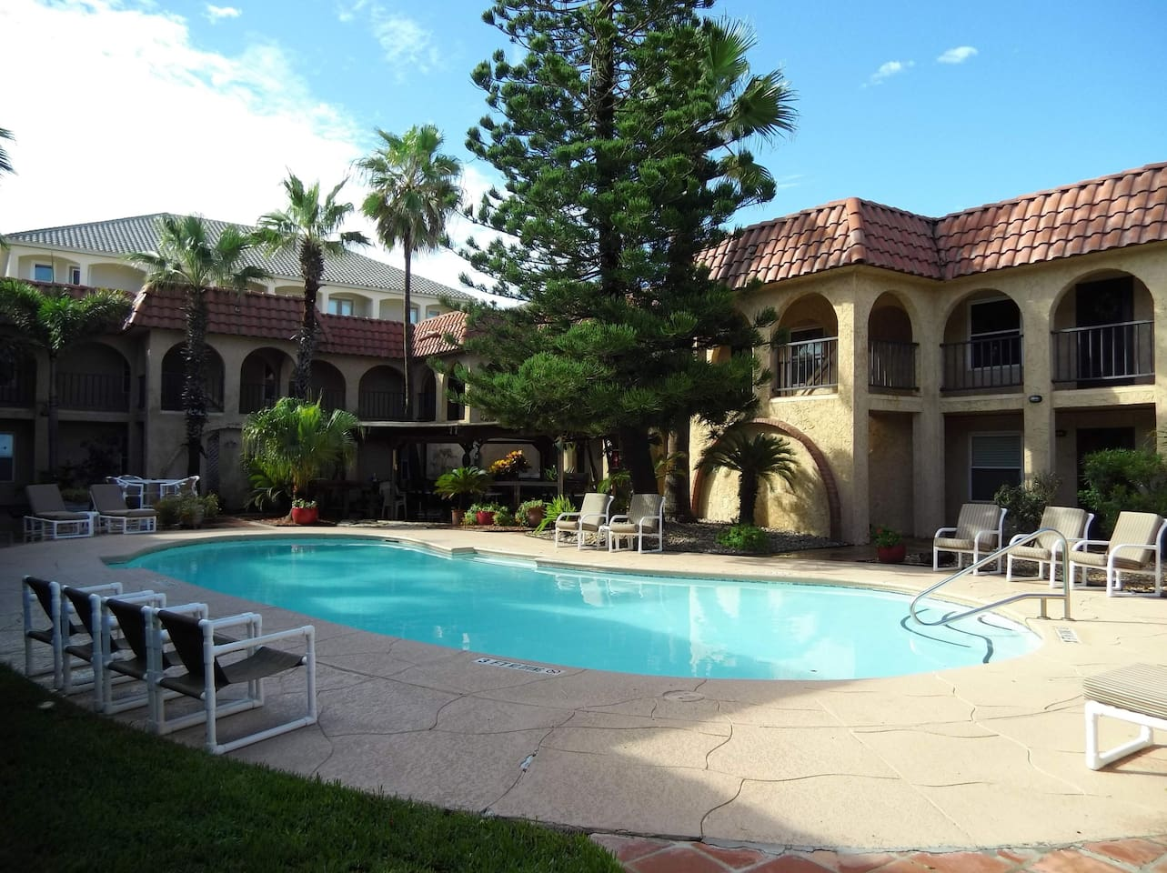 Private beautifully landscaped courtyard and pool