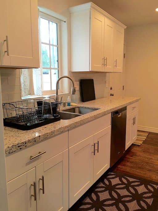 Kitchen with full-sized dishwasher
