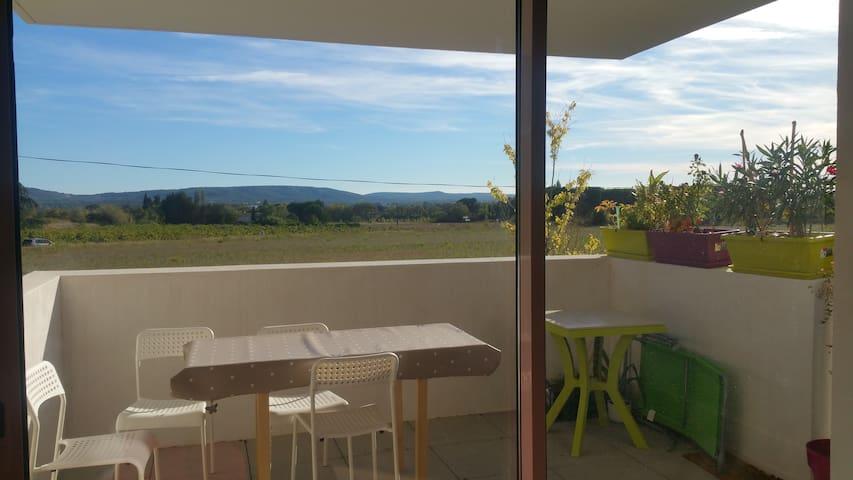 vue panoramique sur le massif de la gardiole - Lavérune - Apartamento