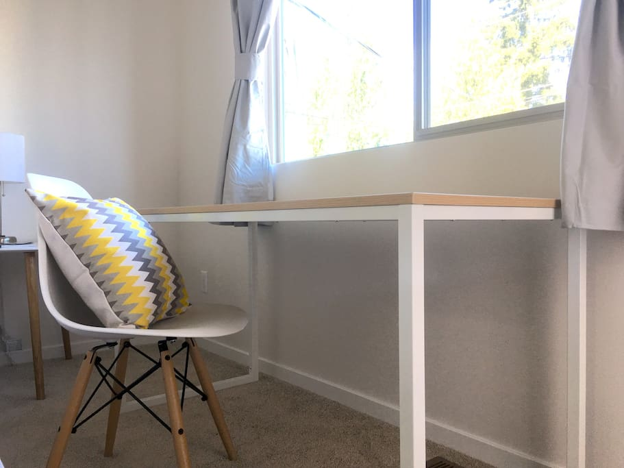 Spacious desk for work