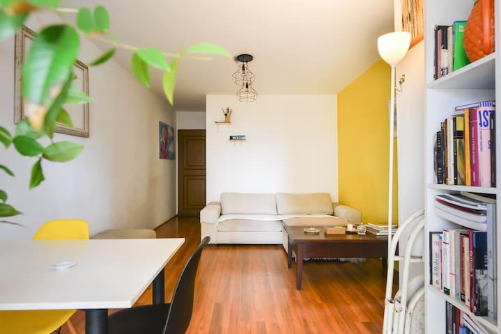 Bedroom in cozy apartment in São Paulo city