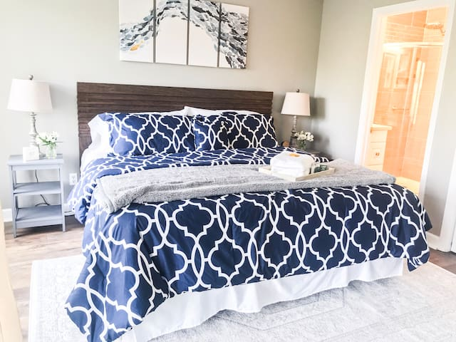 Enjoy a restful night on our comfy king size bed with en suite master bath