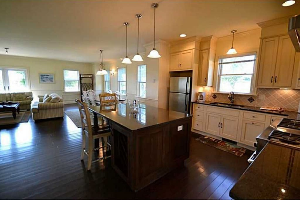 Our Spacious Kitchen with granite table.
