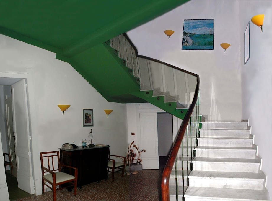 Main hall and stairway