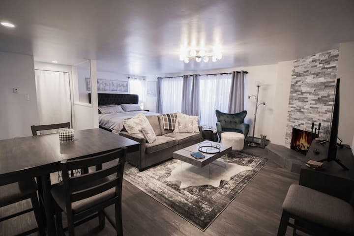 Downtown Aspen with Patio, Fireplace, Parking, W/D