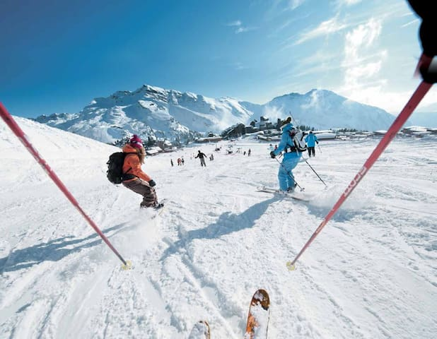 Studio refait à neuf - 15mn du ski  - 5 mn d'Evian