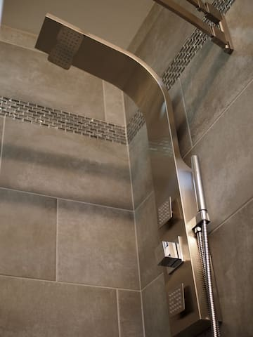 the shower panel