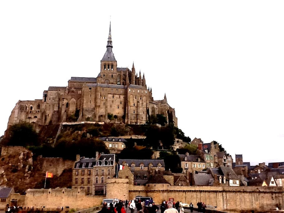 Le Mont St Michel, 5 km from the property, with views from the garden.