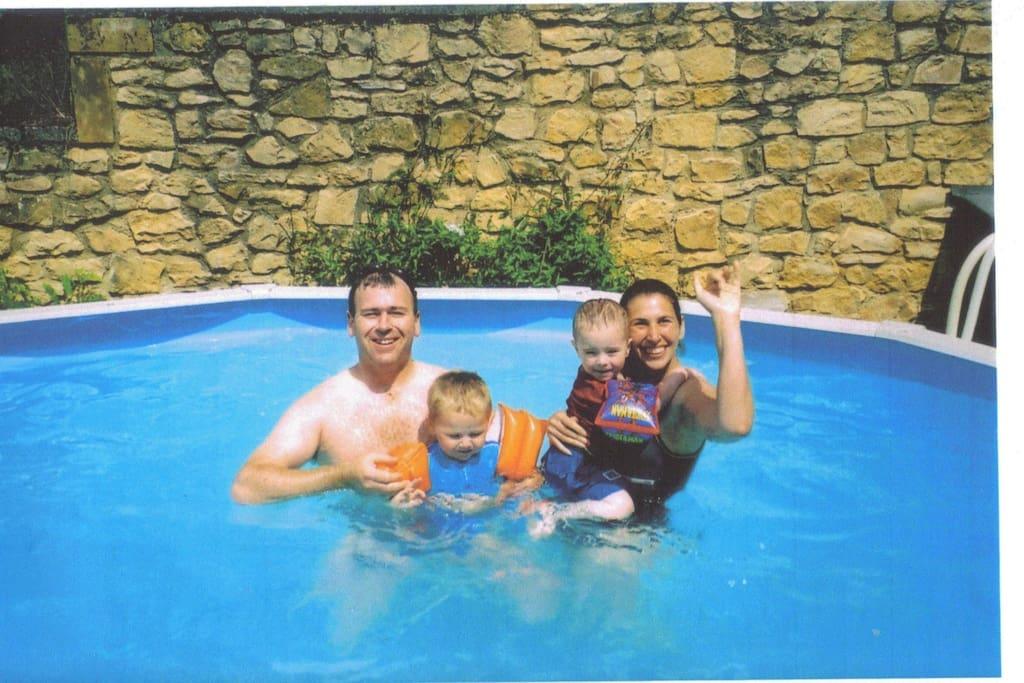 Small pool, but lots of fun