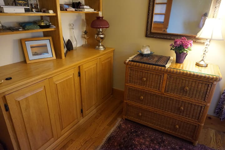 Guest room, dresser for guest use