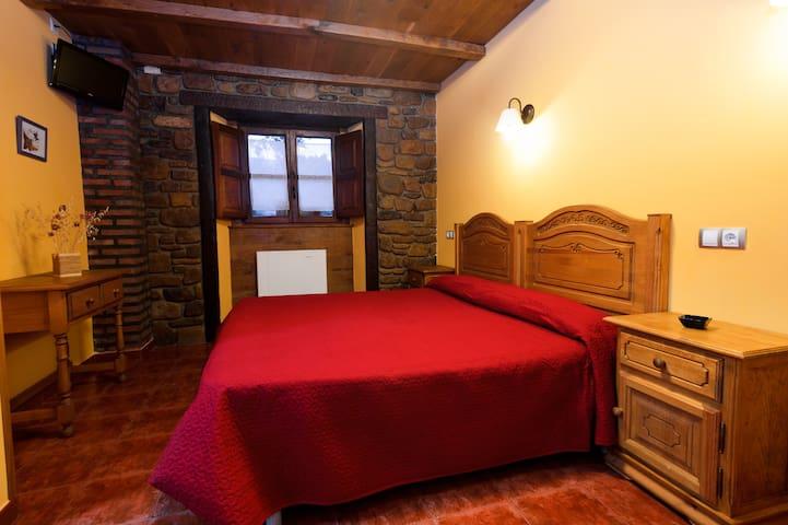 Habitacion con cama de matrimonio, tambien puede ser dos camas.
