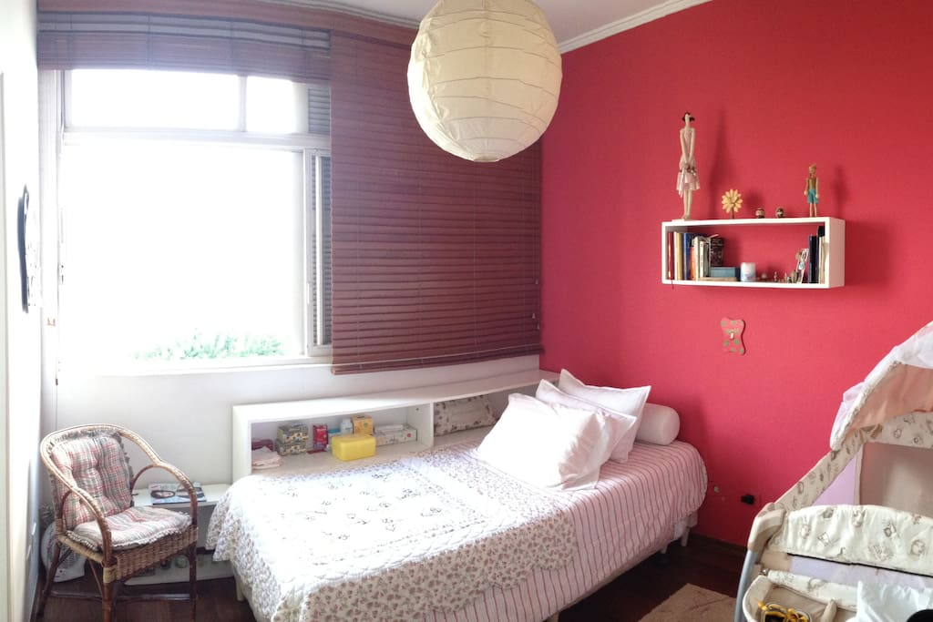 second bedroom - twin bed with another below. We also offer a foldable baby crib.