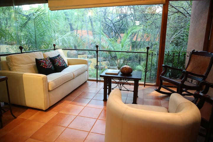 Department furnished inside a beautiful garden. - Oaxaca