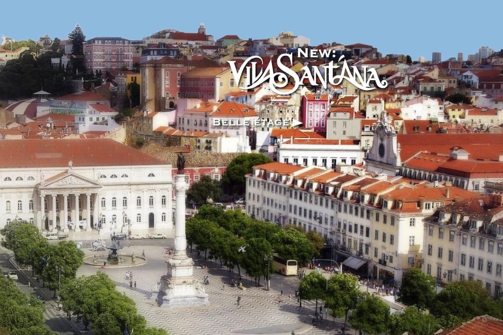 La vie en Rose - Vila Santana bietet einen einzigartigen Blick auf den Rossio