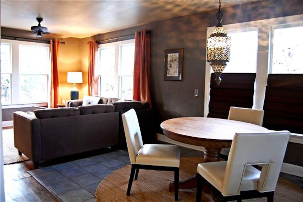 Spacious open living area.