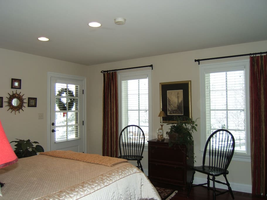 Interior View of the Private Entrance to the Butterfly Garden Bedroom