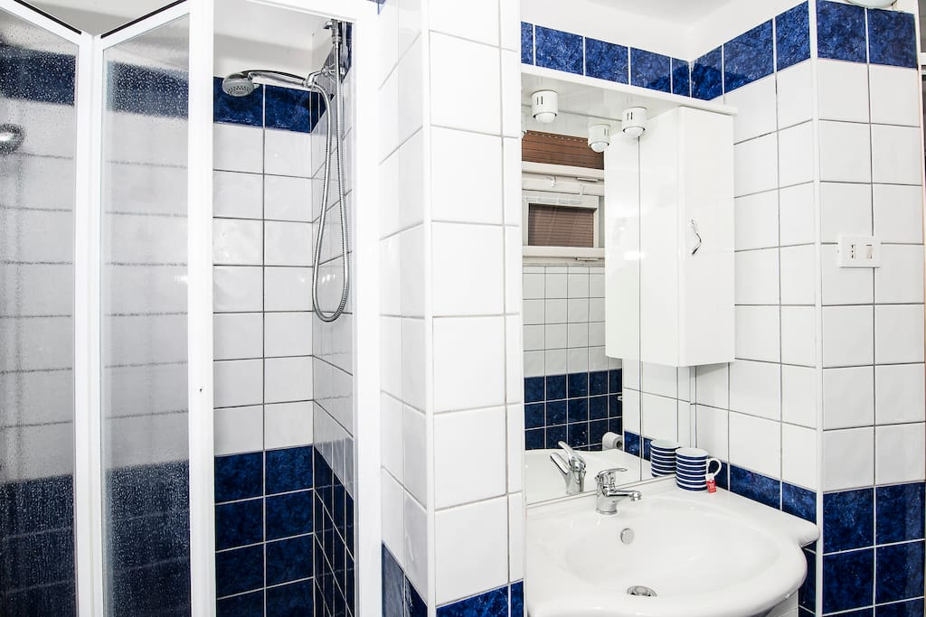 brand new bathroom with separate shower