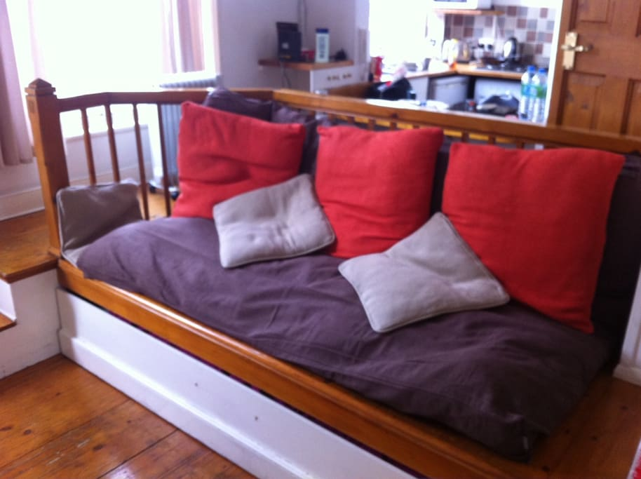A high-quality futon to sit on comfortably