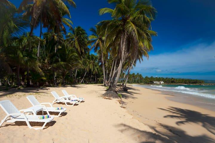 Beach front studio Baoba Beach - Cabrera