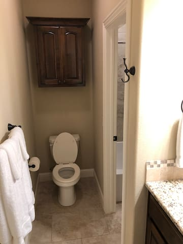 Both bedrooms 3 & 4 have a sink and toilet of their own, with a shared shower between the two. (This is Bedroom 4's)