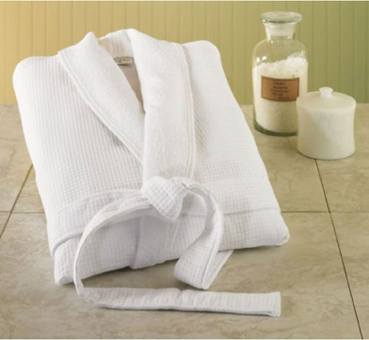 Amenities of a luxury hotel are included in your stay