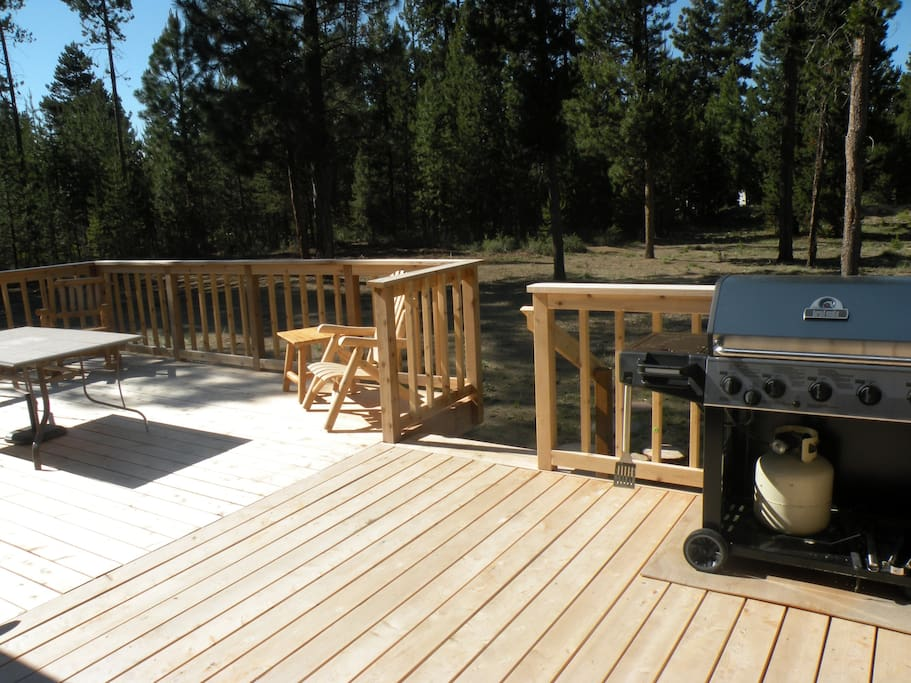Large deck out back for lots of comfort and entertainment.