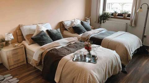 Soukromý pokoj s obývacím prostorem u hlavní trasy