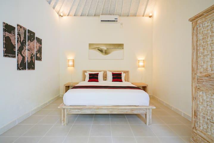 Cozy bedroom with AC