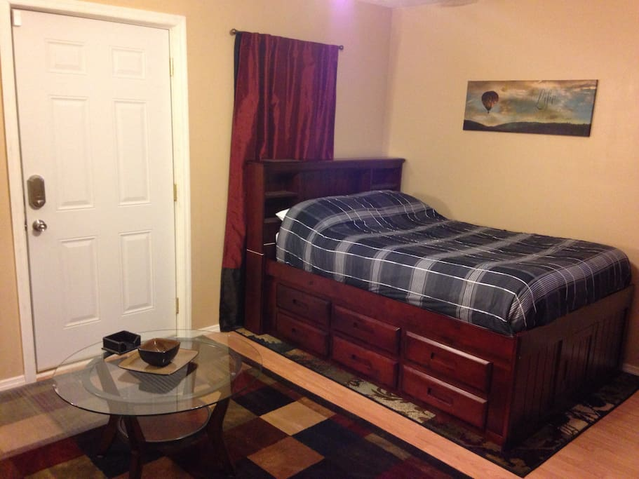 Full Size Bed with Drawers under for added storage